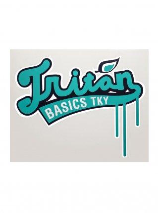 Triton Baseball Logo Sticker / Green