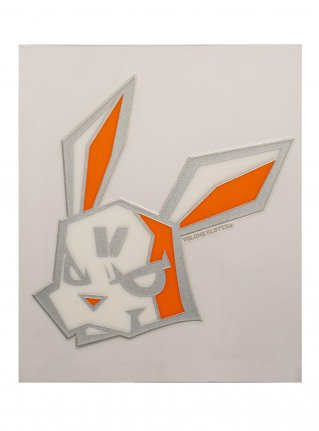 <img class='new_mark_img1' src='https://img.shop-pro.jp/img/new/icons8.gif' style='border:none;display:inline;margin:0px;padding:0px;width:auto;' />v Bunny sticker12 (die cut)  Silver x Orange