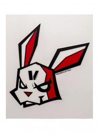 v Bunny sticker12 (die cut)  Black x Red