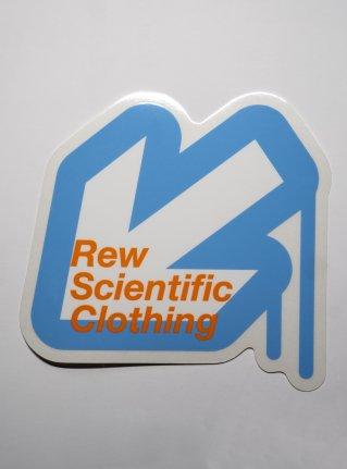 r Arrow logo sticker / Light Blue x white x Orange