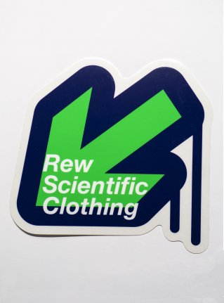 r Arrow logo sticker / black x green