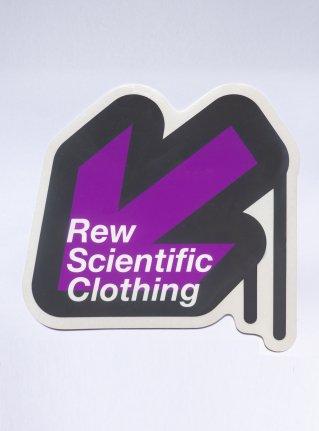 r Arrow logo Sticker08 / D-Gray x Purple