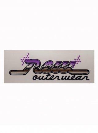 r Real Logo sticker (die cut)  Purple