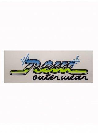 r Real Logo sticker (die cut)  Blue