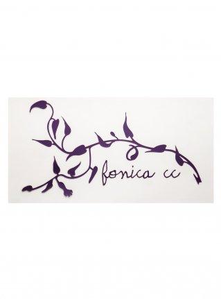 f Ivy Logo Sticker08  (die cut) / Purple