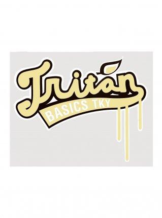 Triton Baseball Logo Sticker / Cream