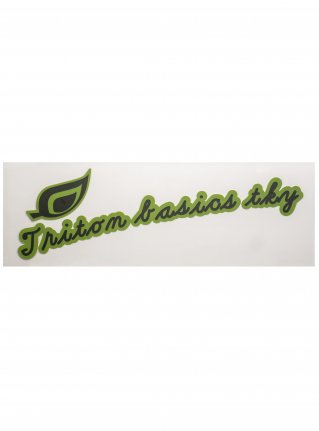 t Leaf Logo  Sticker (die cut)   Green