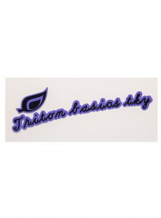 t Leaf Logo  Sticker (die cut)   Purple