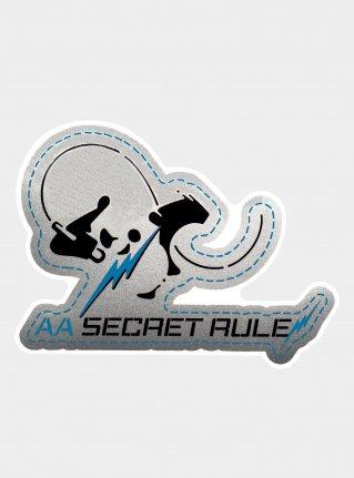 AA Rock Panda Sticker / Blue x Silver