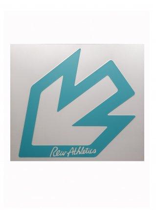 r New Arrow logo sticker 14 (die cut)  L-Blue