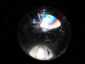 レインボースモーキー水晶丸玉 49,5mm