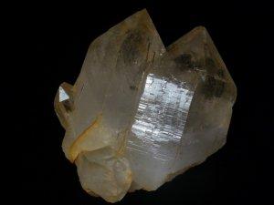 シガール産 ヒマラヤ水晶 ゴールデンヒーラー、大型ソウルメイトツイン、オーラフレーム、グランドレコード、逆三角形の窪み、セルフヒールド、レインボー、右水晶&左水晶