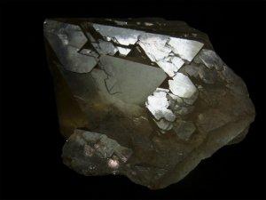 パキスタン スカルドゥ産 ヒマラヤ水晶 スモーキーカテドラル、レコードキーパー、逆三角形の窪み