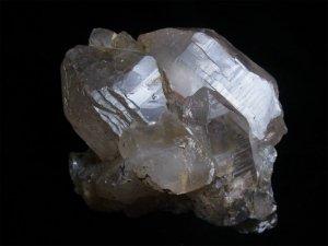 スカルドゥ産 大型ヒマラヤ水晶 スモーキーカテドラルクォーツ レコードキーパー、小さいイシス、逆三角形の窪み▼、微細なルチル、一部にゴールデンヒーラー