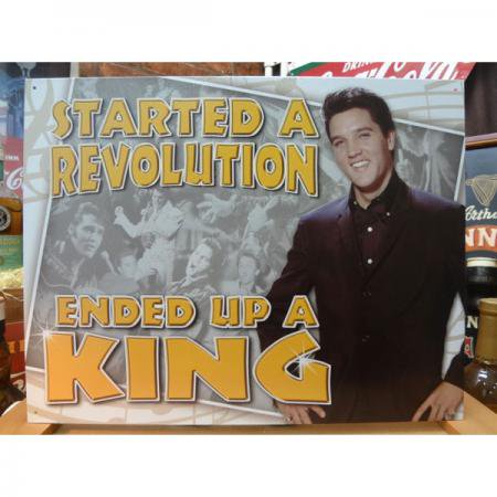 アメリカンブリキ看板 エルビス・プレスリー - Ended Up a King -