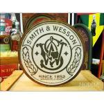 アメリカンブリキ看板 Smith&Wesson ラウンドロゴ