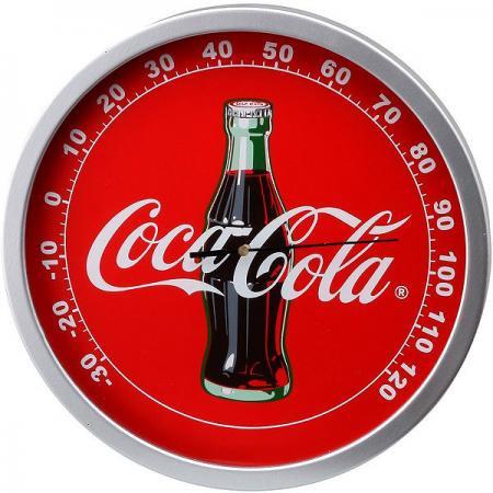 【991405】コカ・コーラ ラウンド型温度計 ボトル&ロゴ
