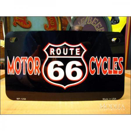 ミニライセンスプレート ルート66 Motorcycles