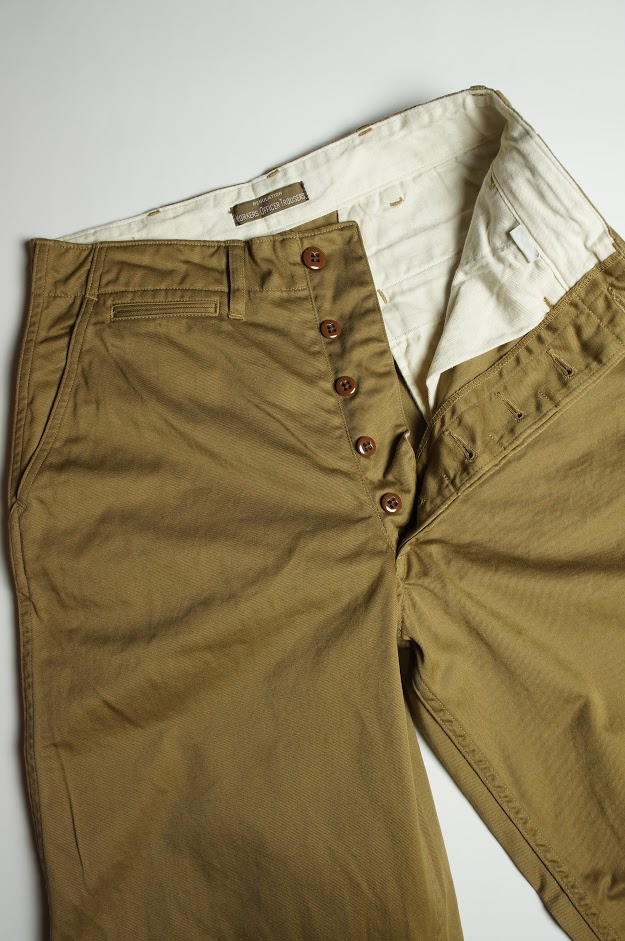 Workers Officer Trousers Vintage Fit Class 2 USMC Khaki