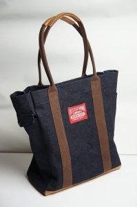革コンビトートバッグ(デニム Mサイズ)