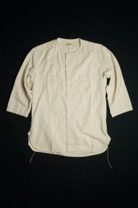 COLLARLESS SPORT SHIRT(NATURAL)