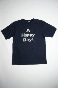 A HAPPY DAY インディゴTシャツ