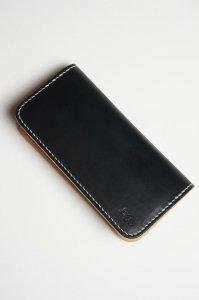 ロングウォレット 横カード(ブラック×ナチュラル)