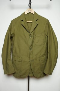 Lounge Jacket Reversed Sateen OD<img class='new_mark_img2' src='//img.shop-pro.jp/img/new/icons9.gif' style='border:none;display:inline;margin:0px;padding:0px;width:auto;' />
