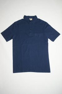 ONE-PIECE COLLAR POLO SHIRT(NAVY)