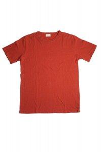 リブドバインダーネックTシャツ(ブリックオレンジ)