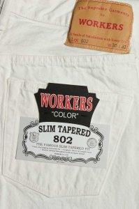 Lot802,Slim Tapered,13.75 Oz White Denim
