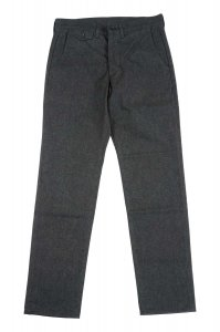 Maple Leaf Trousers Cotton Flannel, Charcoal