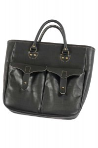 ALL LEATHER TOTE(BLACK)