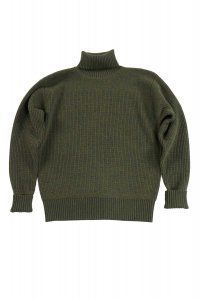 LWK1007 MERINO SUPER LAMB CLASSIC MILITARY SWEATER ASH OLIVE