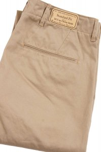 Workers Officer Trousers, Standard Fit, Class 1, 10oz Chino, Beige