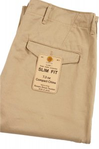 Workers Officer Trousers, Slim Fit, Class 1, 7.3oz Compact Chino