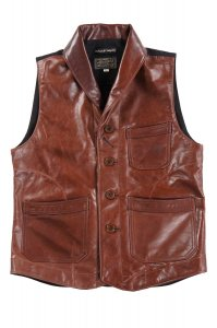 Lyser Spring Leather Vest D.Brown<img class='new_mark_img2' src='https://img.shop-pro.jp/img/new/icons9.gif' style='border:none;display:inline;margin:0px;padding:0px;width:auto;' />