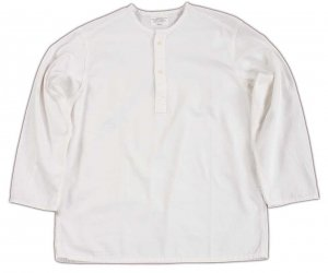 Sleeping Shirt, White Twill<img class='new_mark_img2' src='https://img.shop-pro.jp/img/new/icons9.gif' style='border:none;display:inline;margin:0px;padding:0px;width:auto;' />