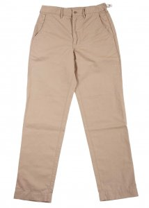 FWP Trousers, Standard-Fit, Beige Cotton Linen Kersey<img class='new_mark_img2' src='https://img.shop-pro.jp/img/new/icons9.gif' style='border:none;display:inline;margin:0px;padding:0px;width:auto;' />