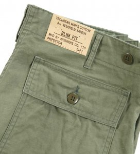 Baker Pants, Slim Fit, 8 oz Reversed Sateen, OD