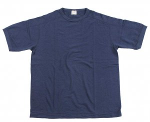 LRC1048 VINTAGE INSPIRED STRIPED-RIB KNIT S/S CREWNECK CLASSIC NAVY