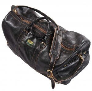TRAVEL ALL Boston Bag + Shoulder Strap + Shoulder Pad All Leather Aged Black