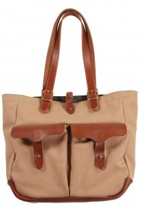 RANCH TOTE Khaki×Dark Brown