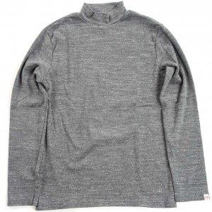 モックネックTシャツ(チャコールグレー)
