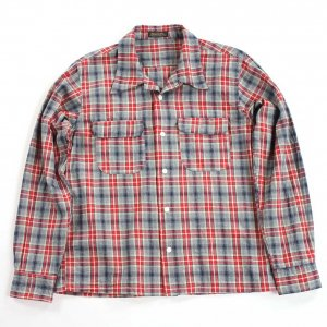MB011 open collar shirts red