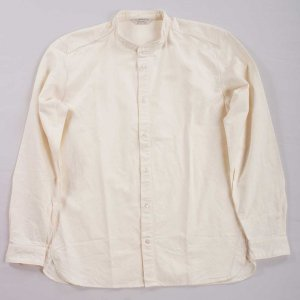Band Collar Shirt White