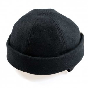 D-00365 FISH CAP BLACK