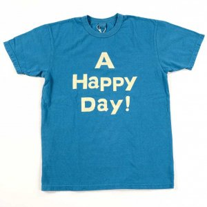 A HAPPY DAY !  Tシャツ ブルー<img class='new_mark_img2' src='https://img.shop-pro.jp/img/new/icons9.gif' style='border:none;display:inline;margin:0px;padding:0px;width:auto;' />