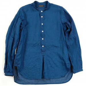 MB019 stand collar shirts indigo<img class='new_mark_img2' src='https://img.shop-pro.jp/img/new/icons9.gif' style='border:none;display:inline;margin:0px;padding:0px;width:auto;' />