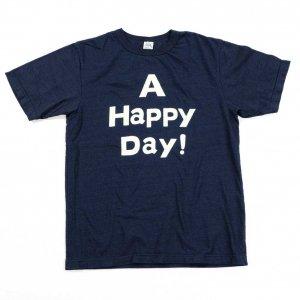 インディゴ A HAPPY DAY ! Tシャツ<img class='new_mark_img2' src='https://img.shop-pro.jp/img/new/icons9.gif' style='border:none;display:inline;margin:0px;padding:0px;width:auto;' />
